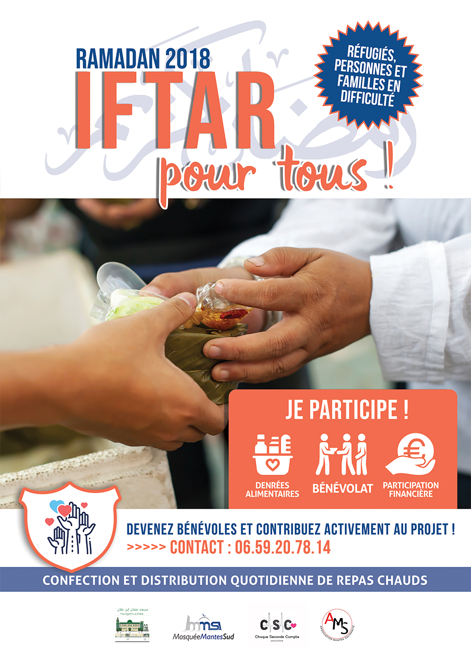 Visuel Iftar pour tous Ramadan 2018 Mosquee Mantes Sud